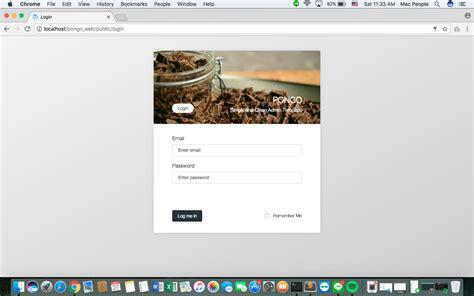 template layout in codeigniter pongo codeigniter admin template user management