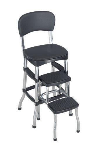 Cosco Black Retro Counter Chair Step Stool by New Cosco Black Retro Counter Chair Step Stool Folding