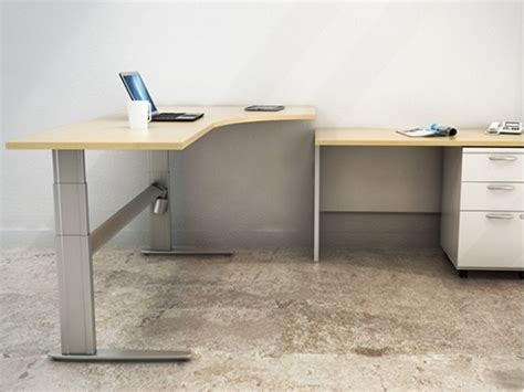 L Shaped Standing Desk by L Shaped Sit Stand Desk Adjustable Office Tables