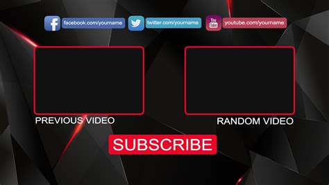 youtube outro template maker after effects free outro