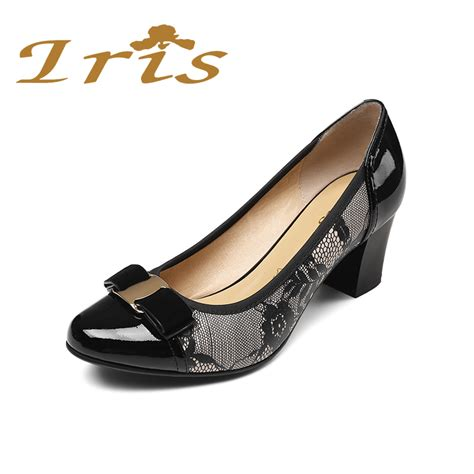 And Print Pumps At Office by מוצר Iris Womens Square High Heel Shoes