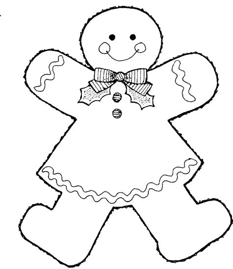 Gingerbread Girl Coloring Pages Coloring Home Coloring Pages Gingerbread