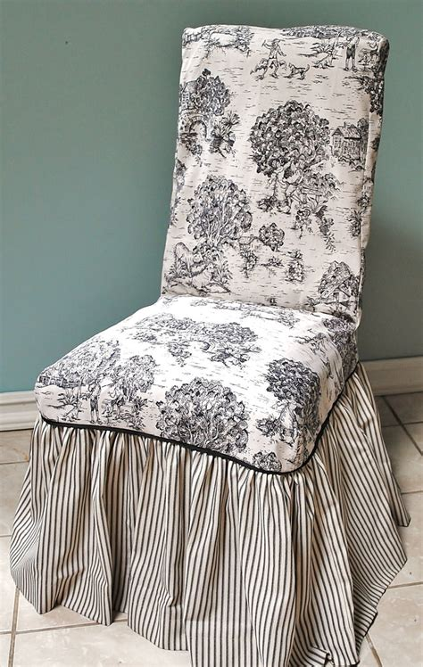 toile slipcovers toile chair images toile and ticking chair cover toile