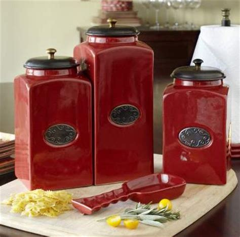 red ceramic canisters for the kitchen convenient kitchen accessories are always welcomed as presents kitchens pinterest a