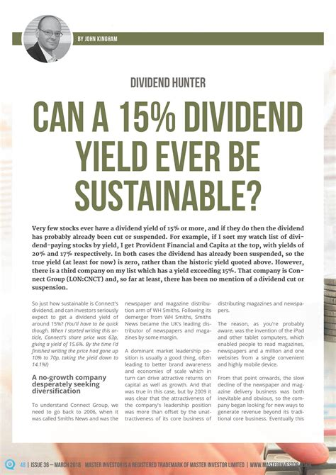 has there ever been a case of someone hacking their can a 15 dividend yield ever be sustainable connect