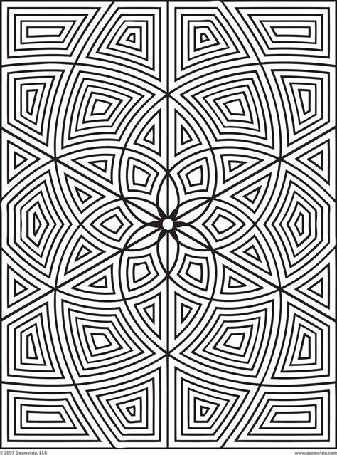 free geometric coloring pages for adults printable kids
