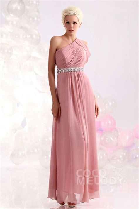 Coco Pink Lila Shoulder Merah etui s 228 ule one shoulder nat 252 rlich bodenlang chiffon rosa