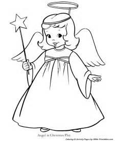 Christmas kids coloring pages christmas play angel