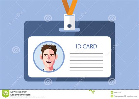 id card flat design flat characters of id card concept illustrations stock