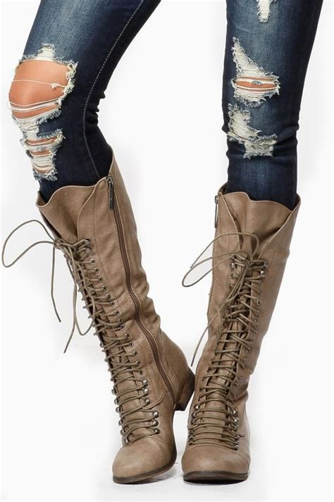 breckelles calf lace up beige boots cicihot boots