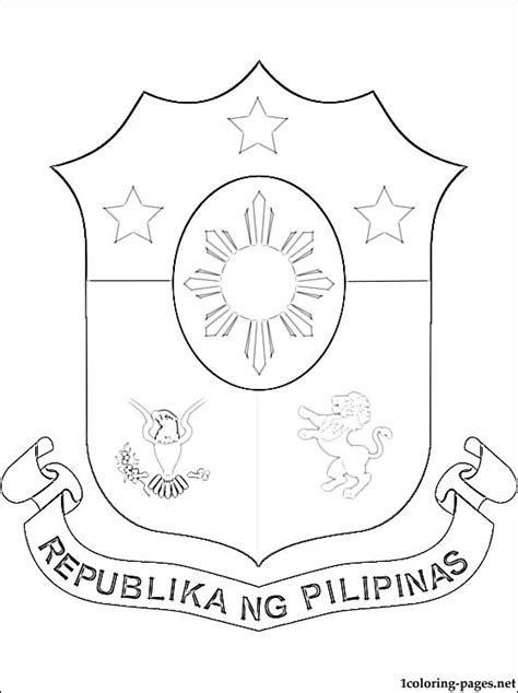 coloring books for adults in the philippines philippines coat of arms coloring page coloring pages
