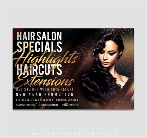 Highlights Hair Stylist Salon Flyer Template Active Ink Media Hair Stylist Flyer Templates