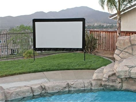 backyard theater screen outdoor backyard theater guide projector people