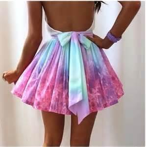 Tie dye fashion style skirts clothes dream closet color dresses