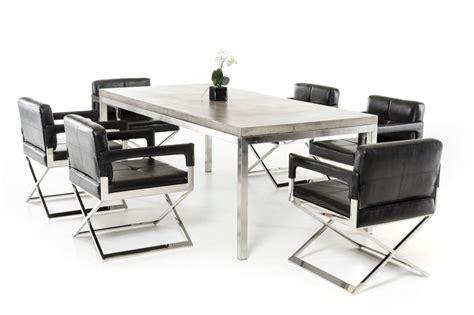 modern concrete dining table concrete chrome rectangular dining table modern