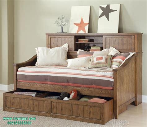 Ranjang Kayu Ukuran Kecil ranjang sorong kayu jati tempat tidur sorong kayu jati