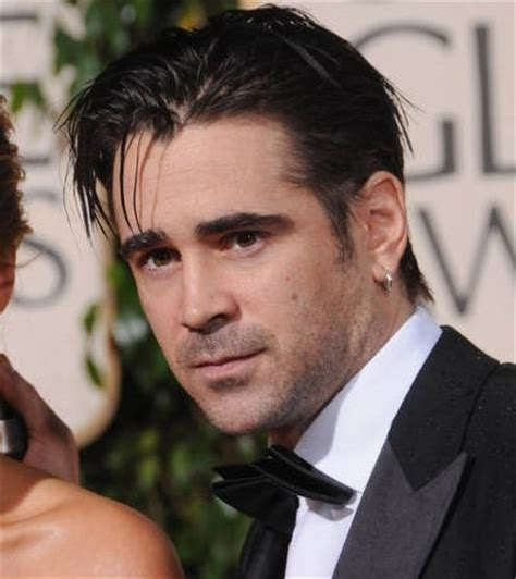 male stars with ears pierced colin farrell ear piercing