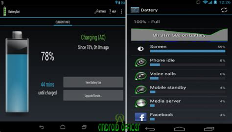boat battery percentage how to check battery percentage on android devices