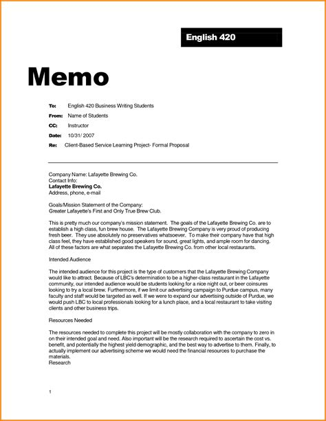 Memo Format Email formal business email exle financial statement form