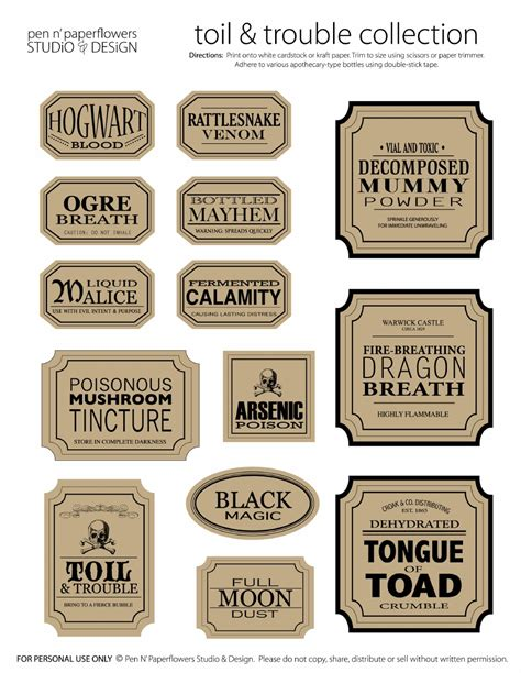 organization labels your file folders coupons binders apothecary jar labels toil trouble collection page 3