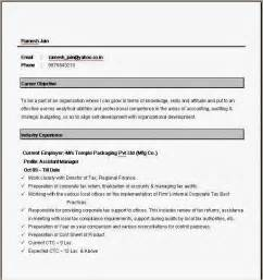 Resume Format Template For Word by Simple Resume Format In Word