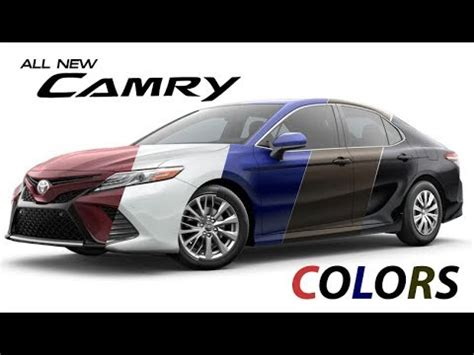 2018 toyota camry colors youtube