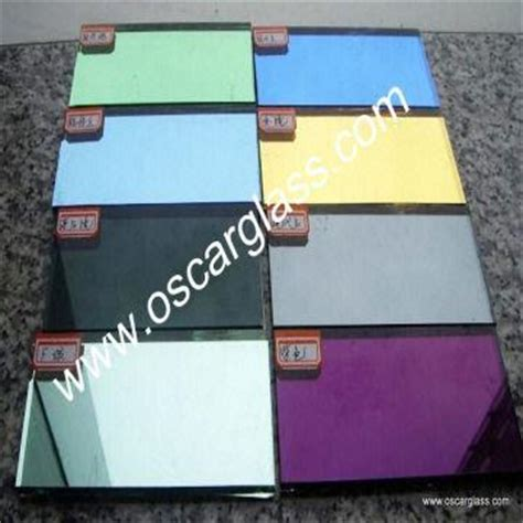 Cermin Grey tinted glass mirror colour mirror stained float glass