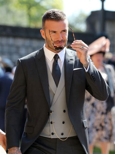 Couldnt Take The Beckham Diet by David Beckham At Royal Wedding 2018 Pictures Popsugar