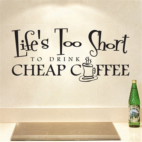 Cheap Wall Stickers cheap coffee kitchen quote wall sticker world of wall