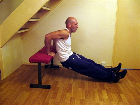 dips on bench exercise without weights try these freehand exercises to