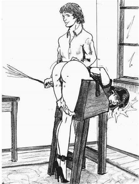 Bound To The Spanking Bench Fetish Artists