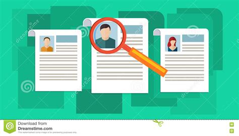 design management work concept of searching professional staff vector