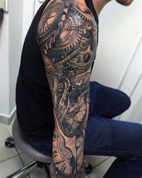 gear tattoo sleeve 100 realistic tattoos for realism design ideas
