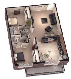 3d modern mansion home floor plans with large living room and bedroom