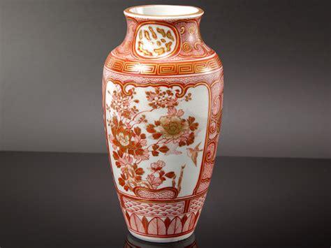 Japanese Porcelain Vases by C1850 Japanese Kutani Painted Porcelain Vase Ebay