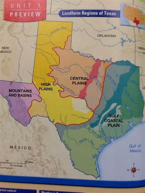 map of texas landforms landforms in texas map images