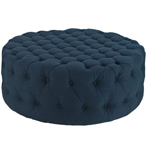 large round upholstered ottoman modway amour large round upholstered tufted fabric ottoman