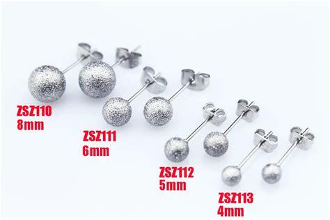 aliexpress buy stainless steel ear stud 4mm 5mm 6mm