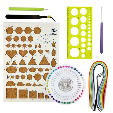 Paper Kit For - starter quilling paper kits cork diy tool workboard