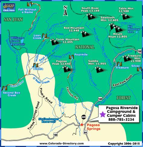 map of colorado pagosa springs pagosa springs hiking trails map colorado vacation directory