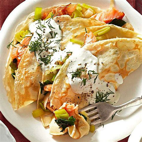 Better Homes And Gardens Crepes by Smoked Salmon And Goat Cheese Crepes