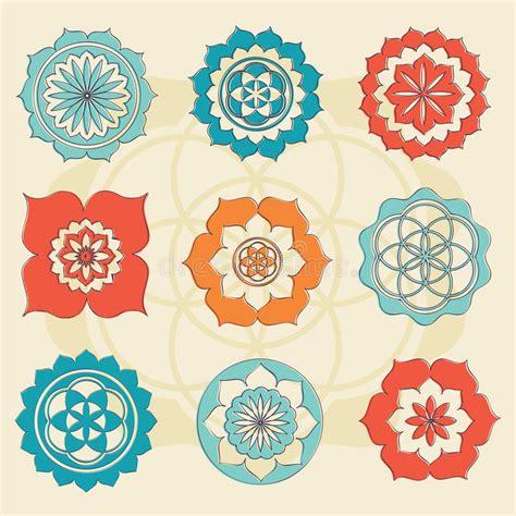 simbolo fiore fiore sacro della geometria dei simboli di vita fotografie