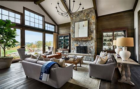 contemporary rustic farmhouse with stunning living spaces