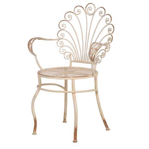scroll  distressed garden chair    interiors notonthehighstreetcom