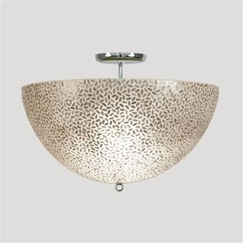 Capiz Shell Light Fixture Worlds Away Rice Flush Mount Capiz Shell Fixture Traditional Ceiling Lighting By Candelabra