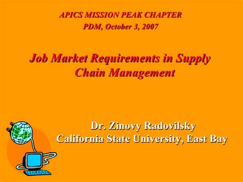 Iowa State U Mba Supply Chain by Market Requirements In Supply Chain Management