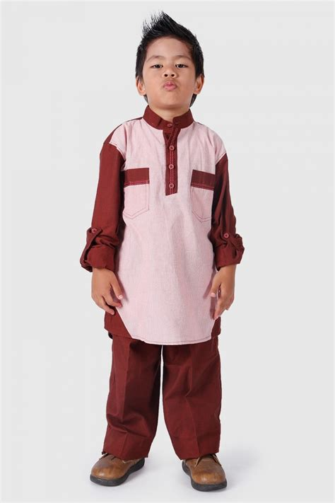 contoh model setelan baju muslim anak laki laki terbaru zofay texaw