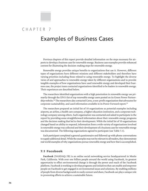 business sustainability report template chapter 7 exles of business cases developing a