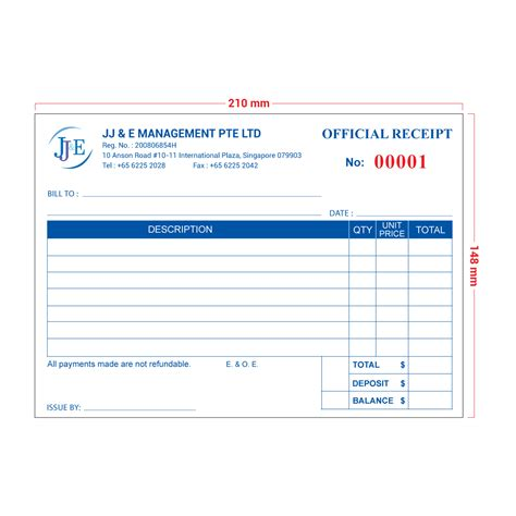 Receipt Template Singapore by Invoice Receipt Book A5 20 Books Jj E