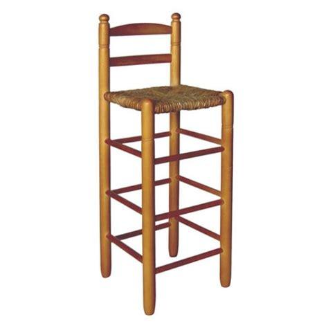 taburetes de enea taburete alto con respaldo asiento de enea